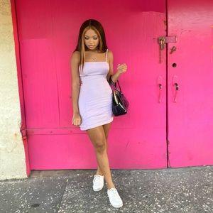 Lavender body on dress!